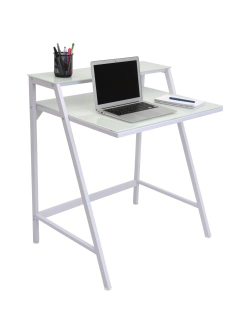 Lumisource 2 Tier Computer Desk White - Office Dep