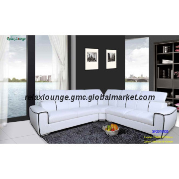 SF2016935, China White leather air corner sofas sets with good .