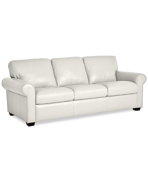 """Furniture Orid 84"""" Leather Sofa, Created for Macy's & Reviews ."""