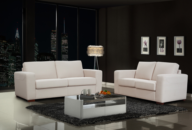 China Creamy White Modern Design Fabric Sofa Sets - China Sofa .