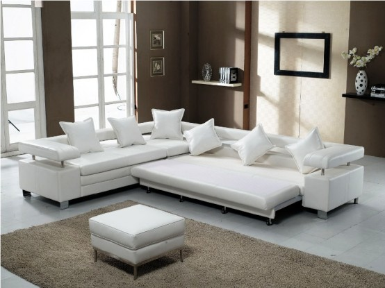 White Modern Sofa and Bed - Home Architecture and Interior .