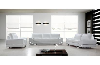 Adalynn White Modern Sofa Set -Buy ($4020) in a modern furniture .