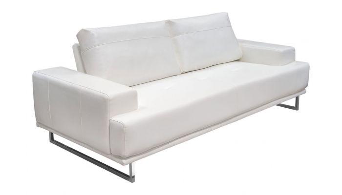 Bradly Modern White Leather So