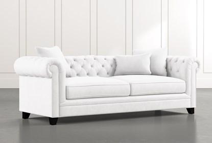 Patterson III White Sofa | Living Spac