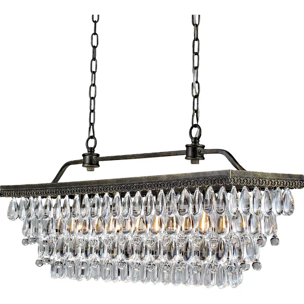 Whitten 4 - Light Unique / Statement Tiered Chandelier with .