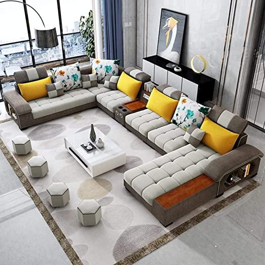 Amazon.com: Modern Supreme 9 Seater Sectional Sofa: Kitchen & Dini
