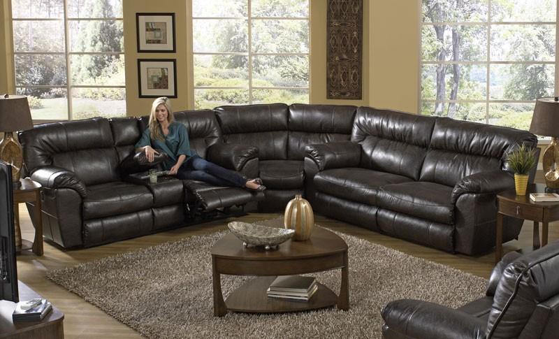 Nolan Recliner 3-Piece Sectional Sofa - Living Ro