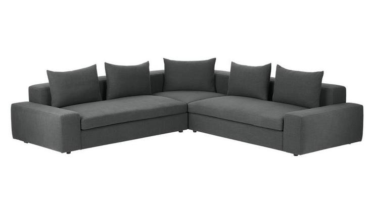 Arlo 3 Piece Iron Gray Wide Arm Sectional So