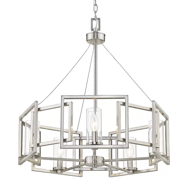 Wightman Shaded Drum Chandelier | Drum chandelier, Chandelier .