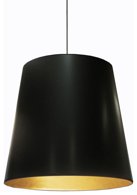 Odette 1-Light Oversized Drum Pendant - Contemporary - Pendant .