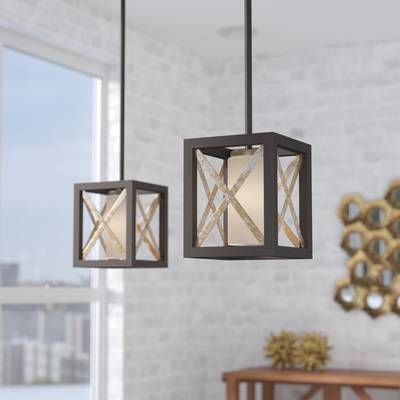 William 4 Light Lantern Square Rectangle Pendants