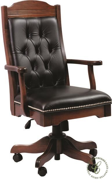 Fairfax Leather Executive Desk Chair - Countryside Amish Furniture .