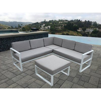 George Oliver Wrobel 3 Piece Sectional Set with Cushions | Patio .