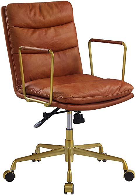 Amazon.com: Acme Furniture Dudley Executive Office Chair, Rust Top .