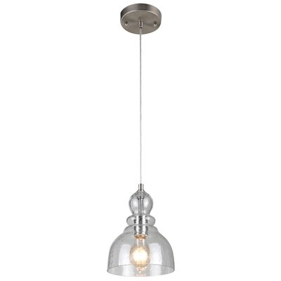 Ebern Designs Yarger 1-Light Single Bell Pendant Finish: Brushed .