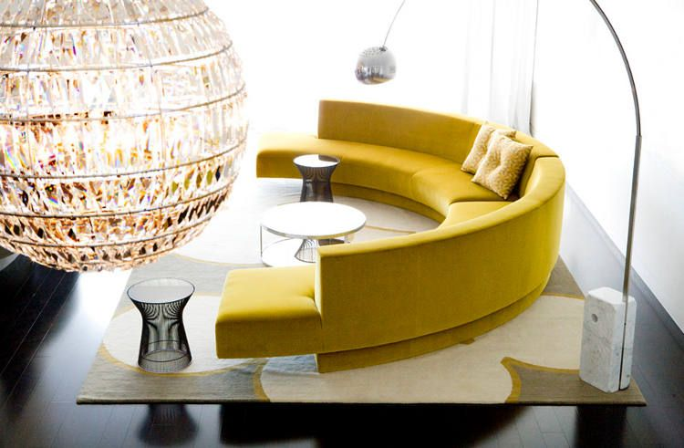 20 Round Couches That Will Steal The Show | Round couch, Round .