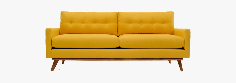 Yellow Sofa Chairs Transparent Background , Free Transparent .