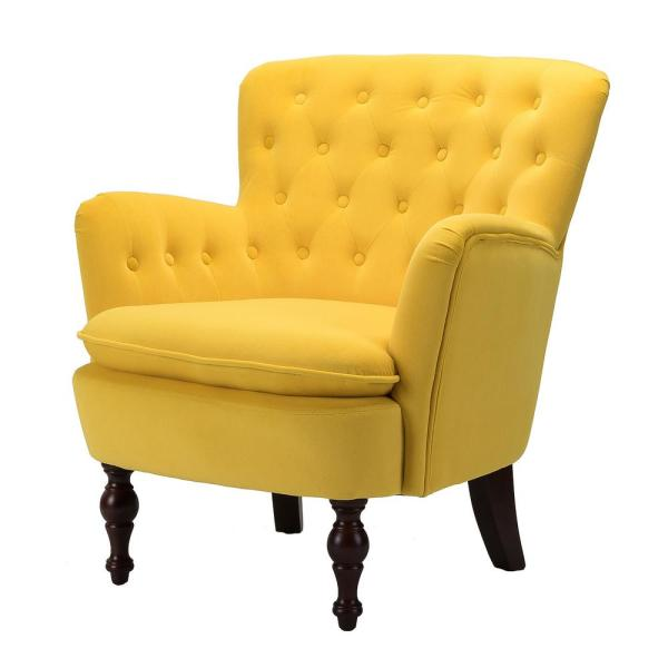 Boyel Living Mustard Yellow Antique Accent Single Sofa Comfy .