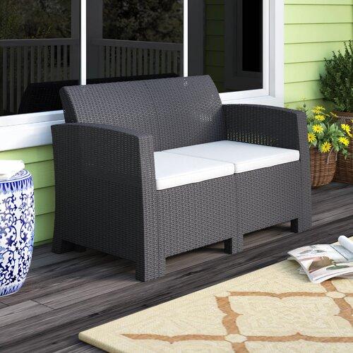 Breakwater Bay Stockwell Patio Sofa with Cushions & Reviews | Wayfa