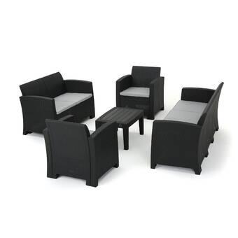Andover Mills Yoselin 5 Piece Rattan Sofa Seating Group with .