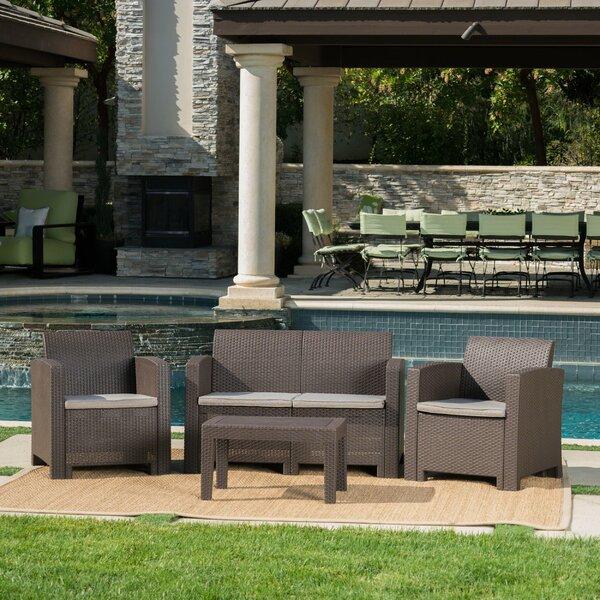 Andover Mills™ Yoselin 4 Piece Rattan Sofa Seating Group with .
