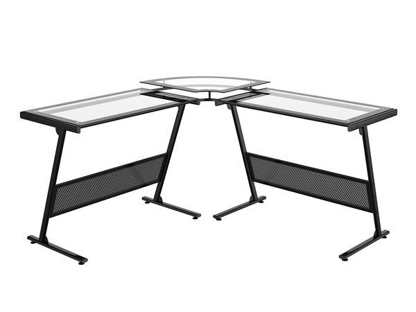 """Delano Glass """"L"""" Computer Desk – Z-Line Designs, In"""