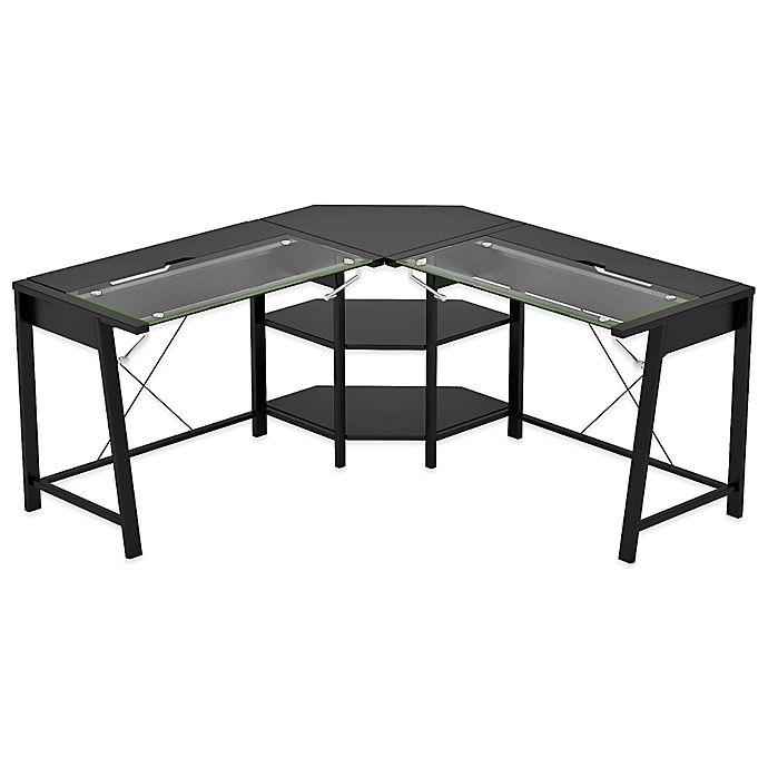 Z-Line Designs Vance L Desk in Black | Bed Bath & Beyo