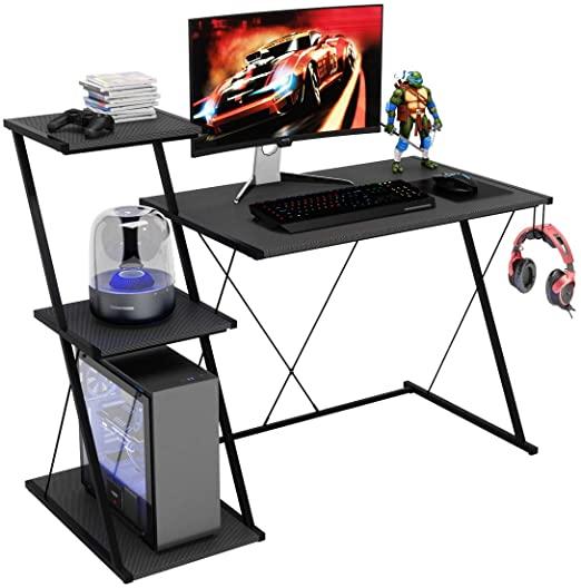 Amazon.com: Bestier Z-Line Designs Computer Desk with 3 Tier Large .
