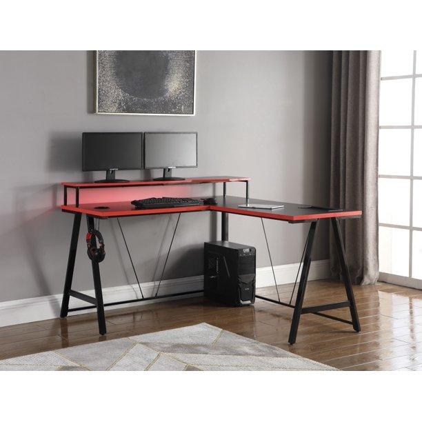 Z-Line Series 1.5 Performance Light-Up L Shape Gaming Desk .