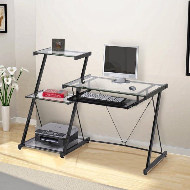 Z-Line Nero Desk and Bookcase - Black - Walmart.com - Walmart.c